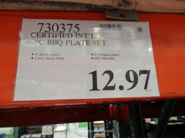 Certified International BBQ Serving Set Costco 6