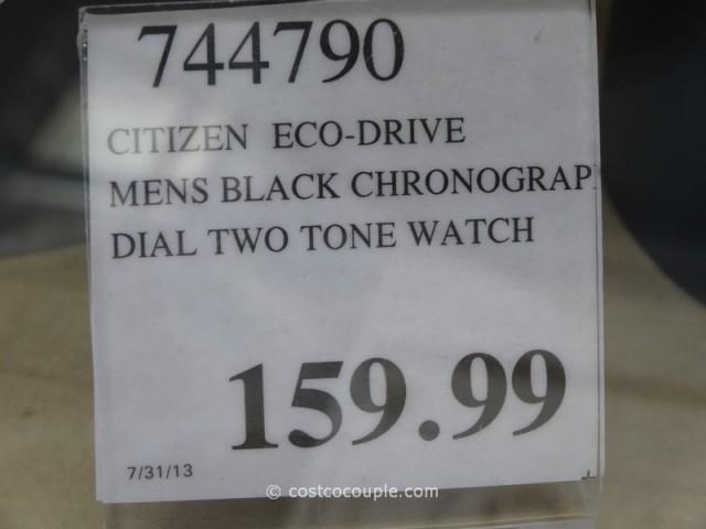 Citizen Eco-Drive Black Dial Two Tone Costco