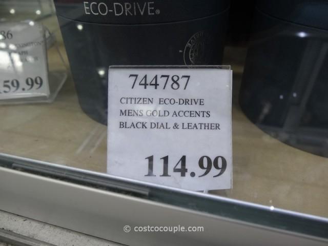 Citizen Eco-Drive Black Dial and Leather Costco
