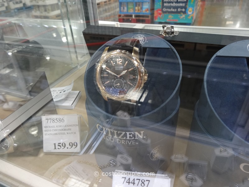 Citizen Eco-Drive Black Dial and Leather Costco