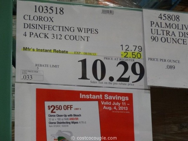 Clorox Disinfecting Wipes Costco