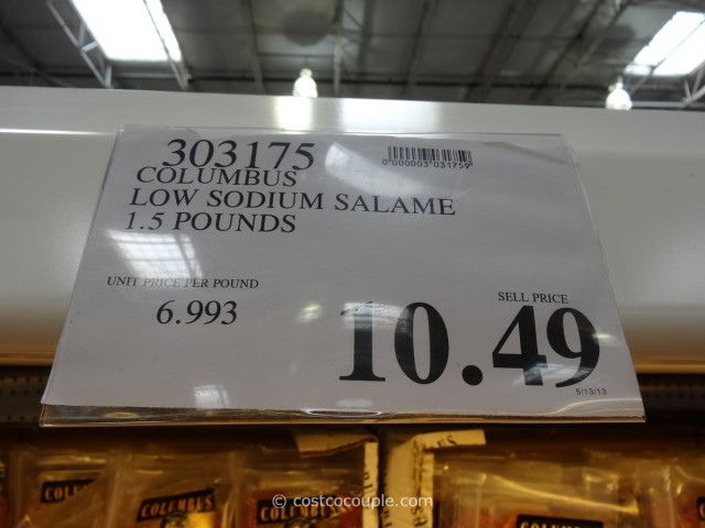 Columbus Reduced Sodium Italian Dry Salame