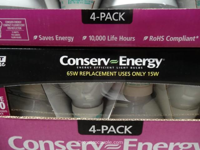 Conserv-Energy 15W R30 Reflector CFL Bulbs Costco 2