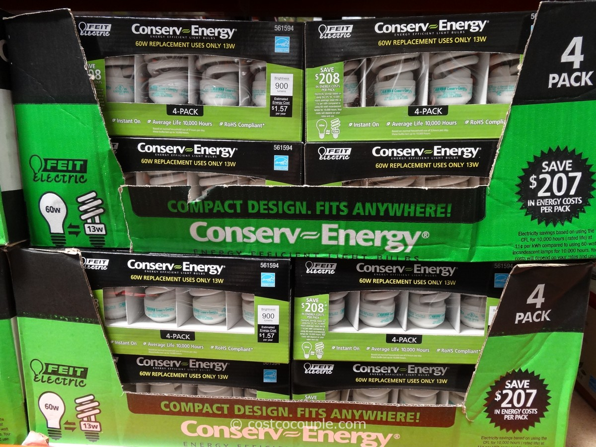 Conserv-Energy T2 13W Mini Twist CFL Bulbs Costco