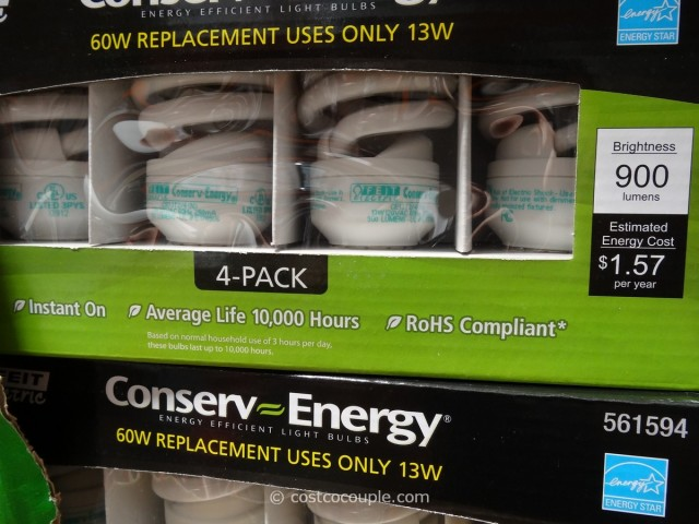 Conserv-Energy T2 13W Mini Twist CFL Bulbs Costco 2