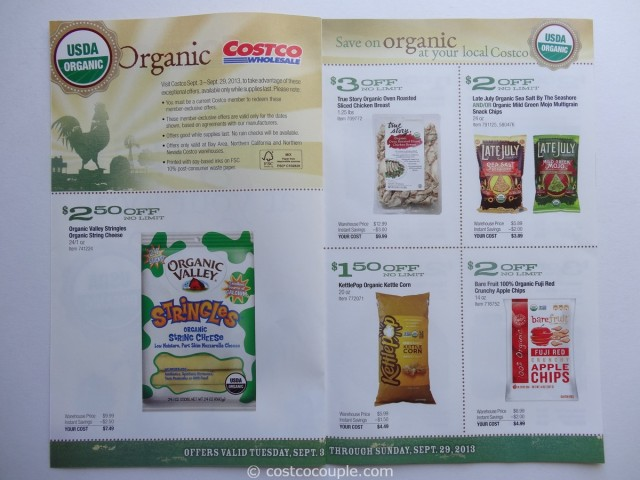 Costco September 2013 Organic Coupons 2