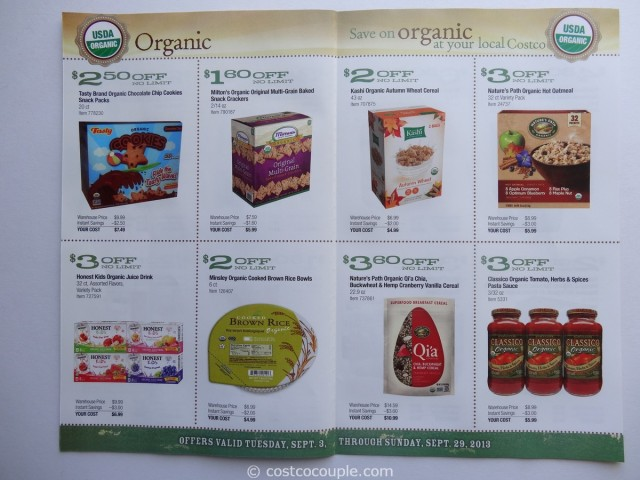 Costco September 2013 Organic Coupons 3