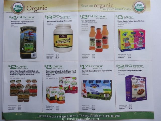 Costco September 2013 Organic Coupons 4