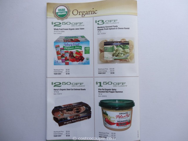 Costco September 2013 Organic Coupons 5