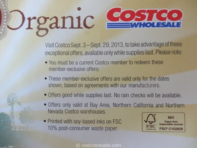 Costco September 2013 Organic Coupons 6