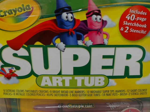 Crayola Super Art Tub Costco 2