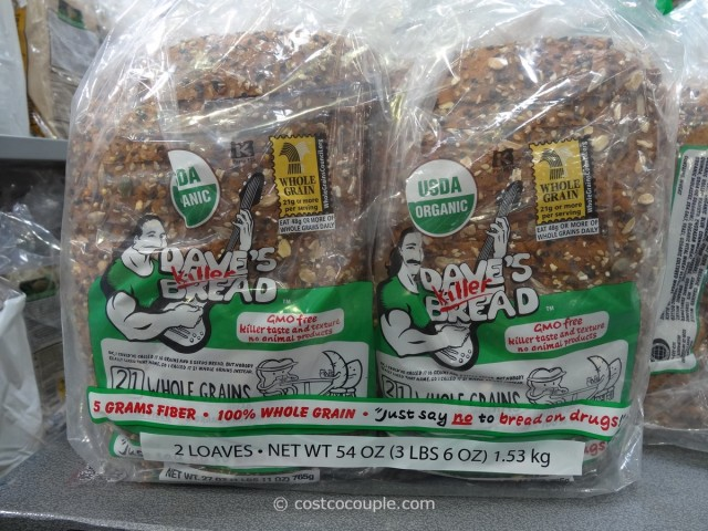 Dave's Organic 21 Whole Grain Bread Costco 1