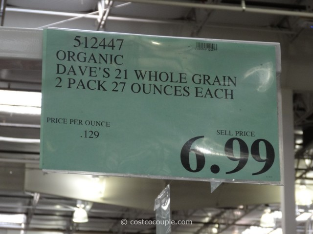 Dave's Organic 21 Whole Grain Bread Costco 3
