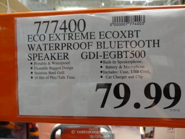 EcoExtreme Waterproof Bluetooth Speaker Costco 2