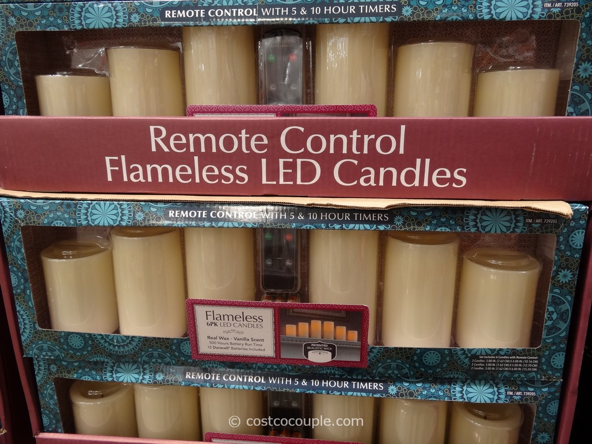 Flameless LED Candles with Remote Costco 1
