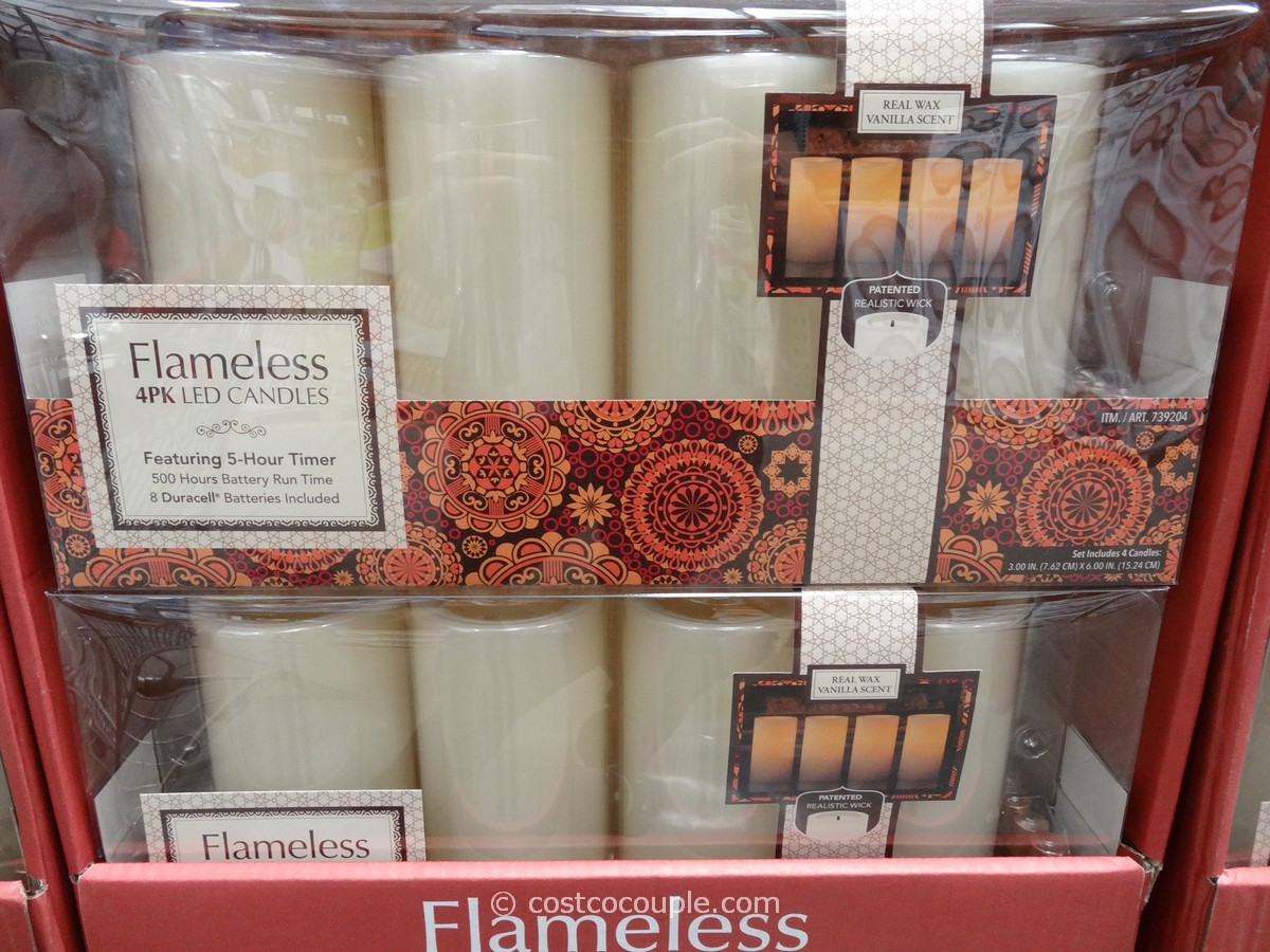 Flameless LED Pillar Candles Costco 2