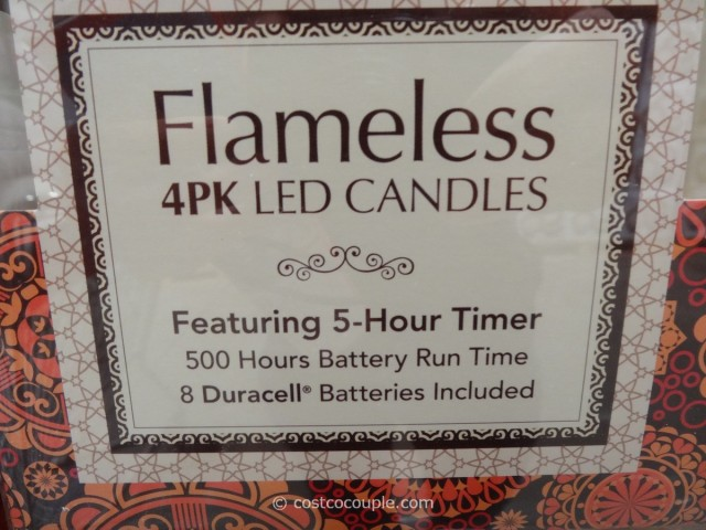 Flameless LED Pillar Candles Costco 3