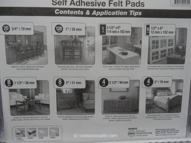 Floor Care Felt Pads Costco 2
