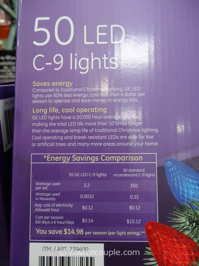 ge energy smart c9 multicolor led lights costco 3. Black Bedroom Furniture Sets. Home Design Ideas