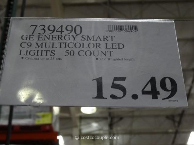 GE Energy Smart C9 Multicolor LED Lights Costco 4