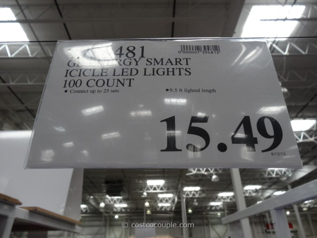 GE Energy Smart Icicle LED Lights Costco 2