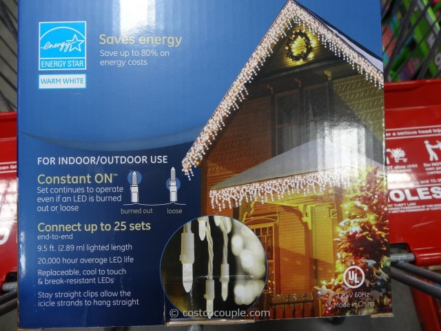 GE Energy Smart Icicle LED Lights Costco 4