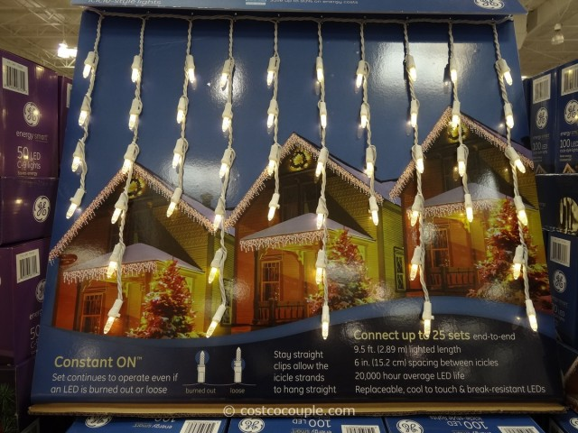 GE Energy Smart Icicle LED Lights Costco 5