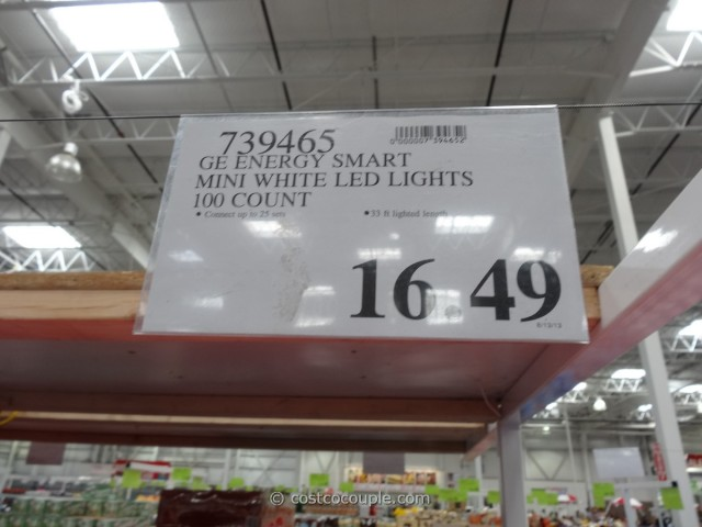 ge energy smart mini white led lights costco 3. Black Bedroom Furniture Sets. Home Design Ideas