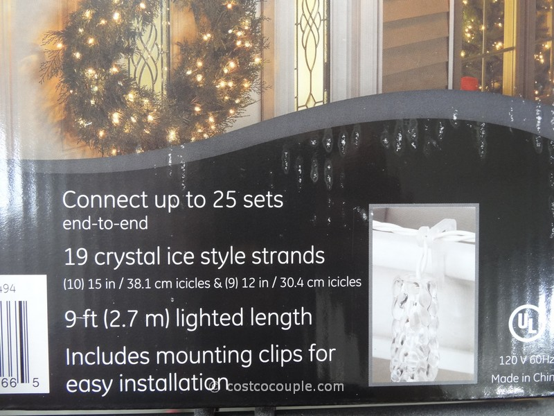 ge twinkling led icicle set. Black Bedroom Furniture Sets. Home Design Ideas