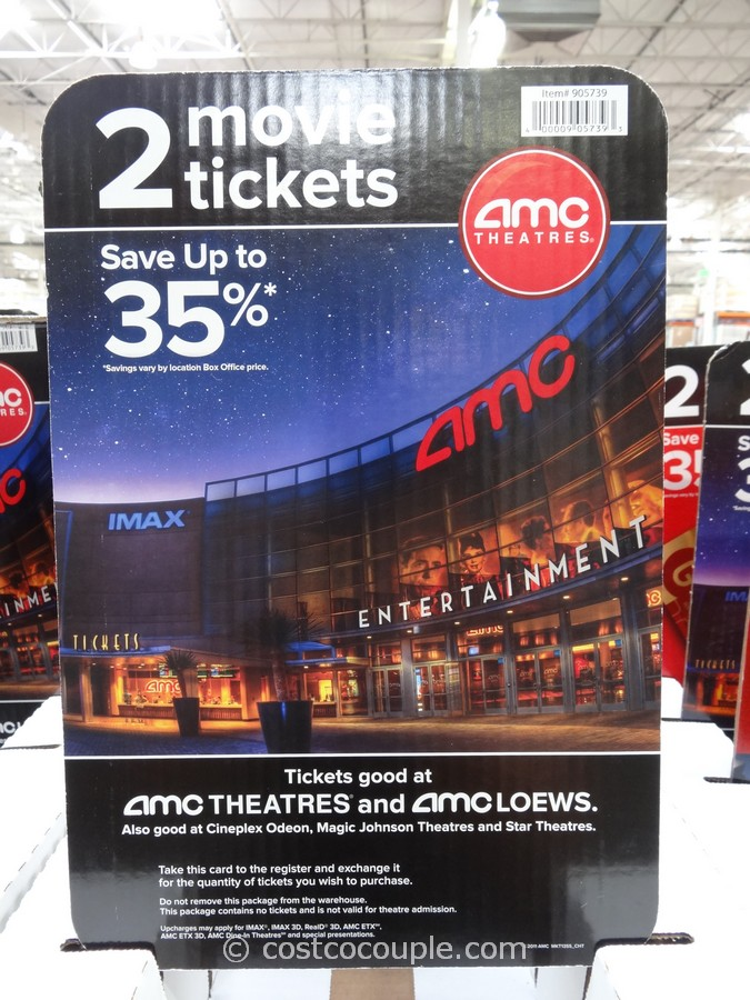 Gift Card AMC Theater Movie Ticket Costco 2