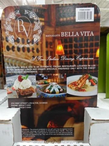 Gift Card Bella Vita Costco