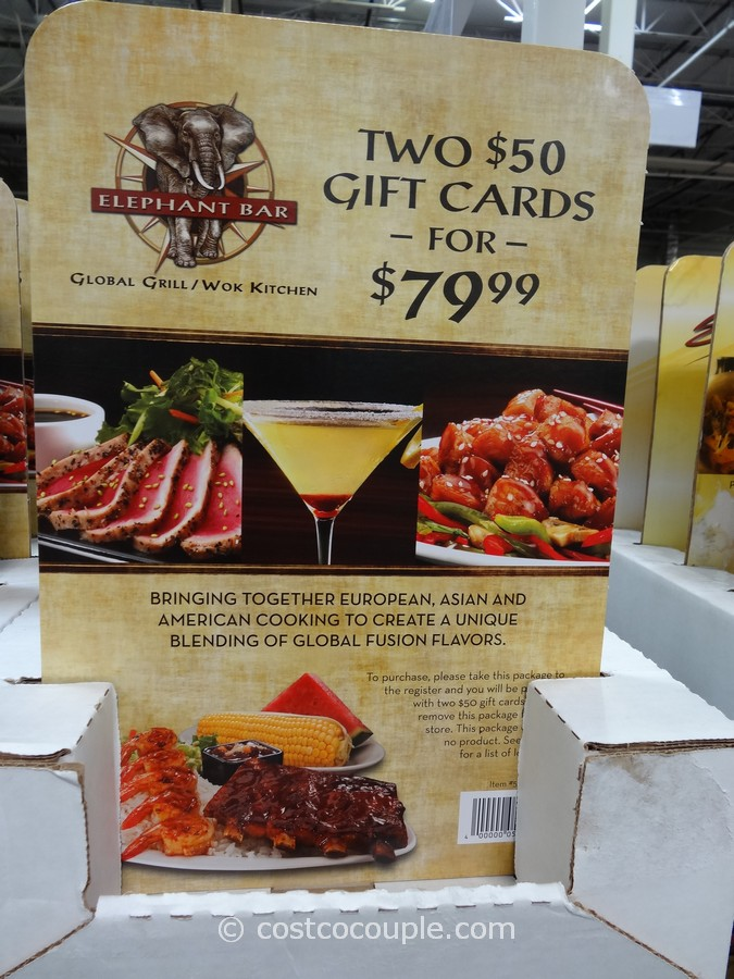 Gift Cards Elephant Bar Costco 3
