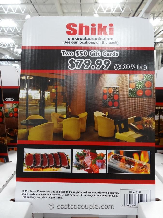 Shiki Restaurants Discount Gift Card