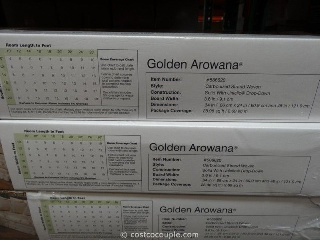 Golden Arowana Strand Woven Bamboo Flooring Costco