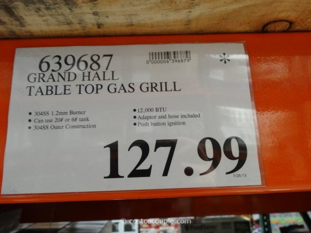 Grand Hall Table Top Gas Grill Costco 4