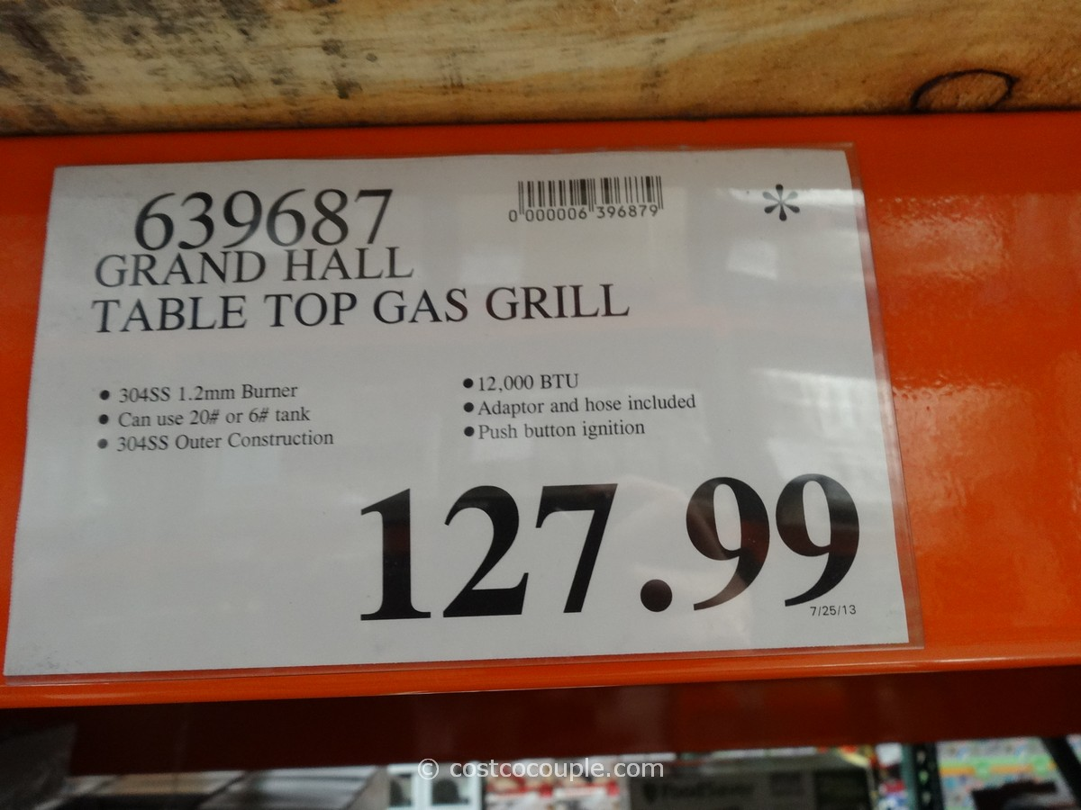 Grand Hall Table Top Gas Grill