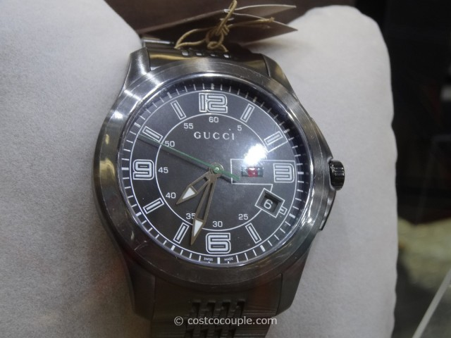 Gucci Black Dial and PVD Steel 126XL Costco 2