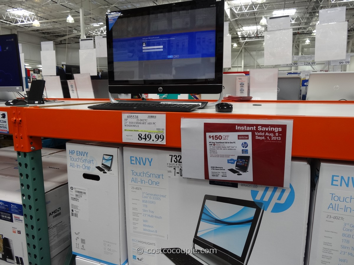 HP Envy TouchSmart All-In-One 23-D027C Costco 1