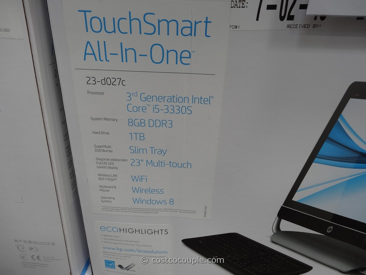 HP Envy TouchSmart All-In-One 23-D027C