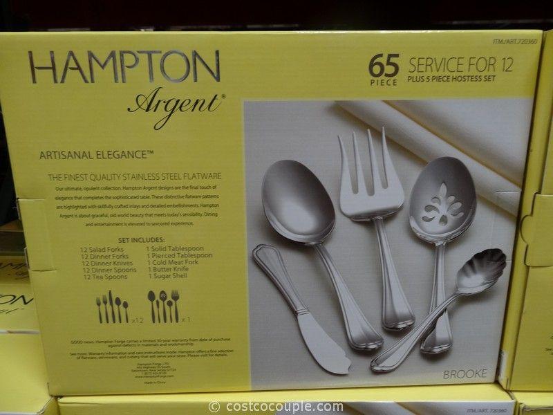 Hampton Forge Argent 65 Piece Flatware Set