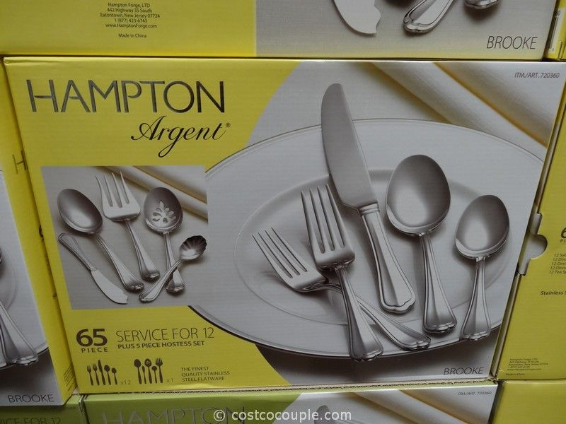 Hampton Forge Argent 65 Piece Flatware Set Costco