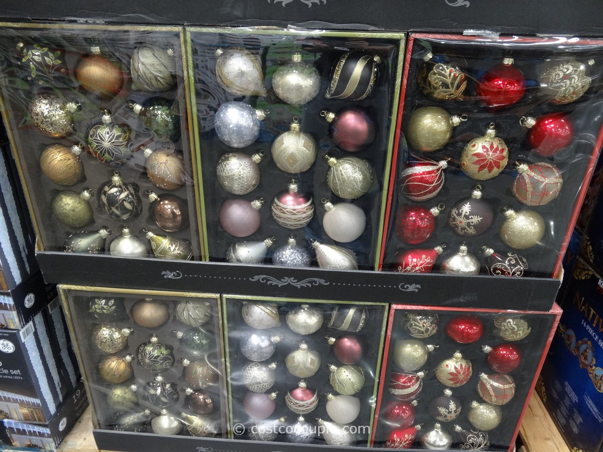 Hand Painted Glass Ornaments Set Costco 1
