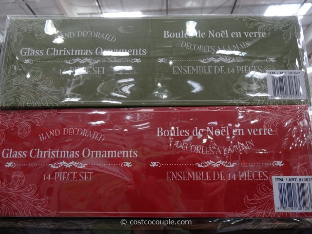 Hand Painted Glass Ornaments Set Costco 2