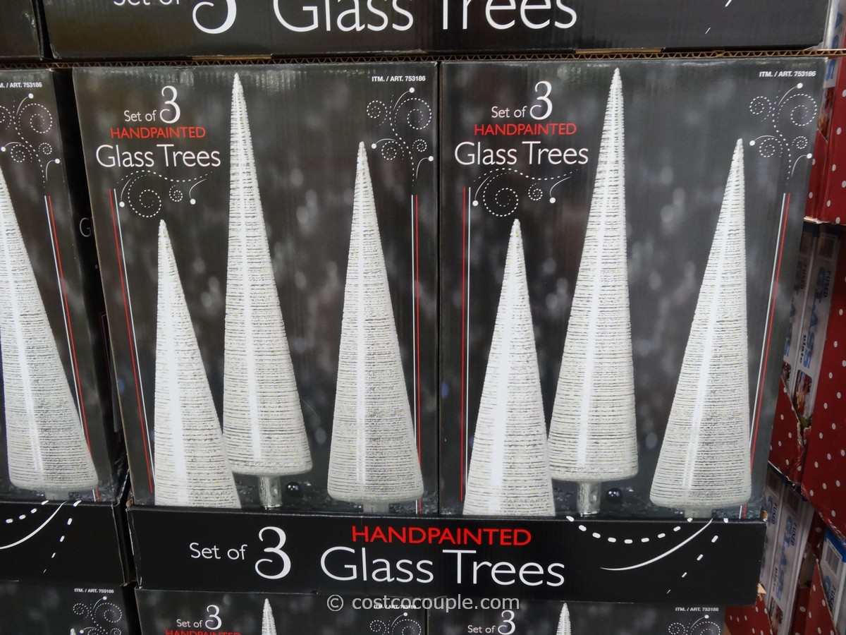 Hand Painted Glass Trees Costco 1