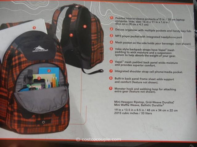 High Sierra RipRap Backpack Costco 2
