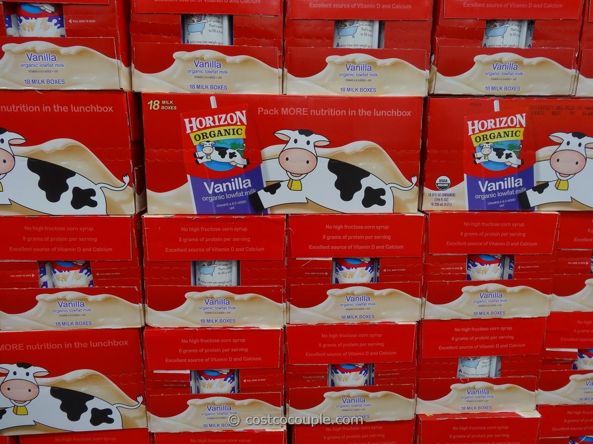 Horizon Vanilla Organic Lowfat Milk Costco 1