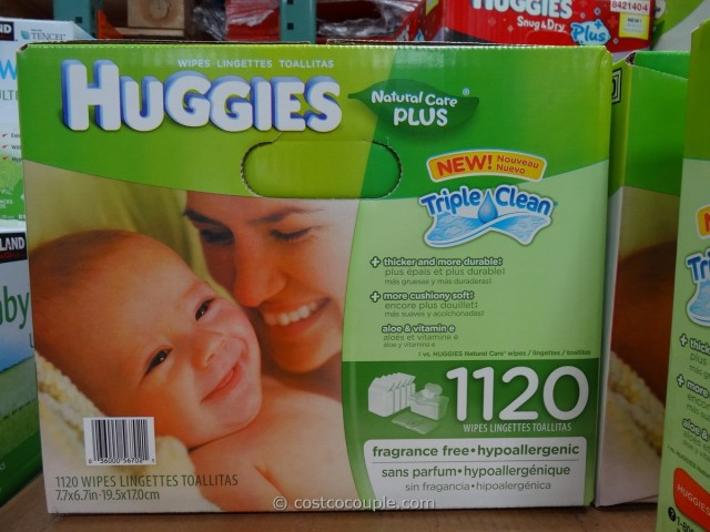 Huggies Natural Care Plus Baby Wipes Costco 1