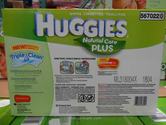 Huggies Natural Care Plus Baby Wipes Costco 2