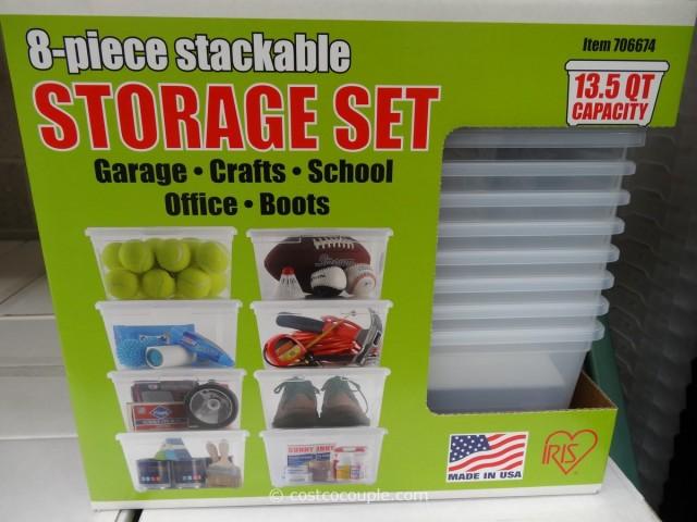 Iris Stackable Storage Set Costco 3