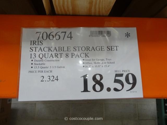 Iris Stackable Storage Set Costco 4